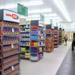 Gondola Radius End Euroshelf shelving solution supermarkets