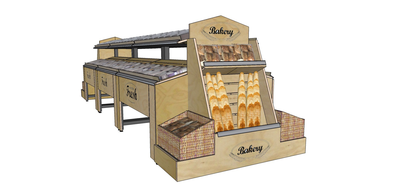 Avanti Bakery Display Island