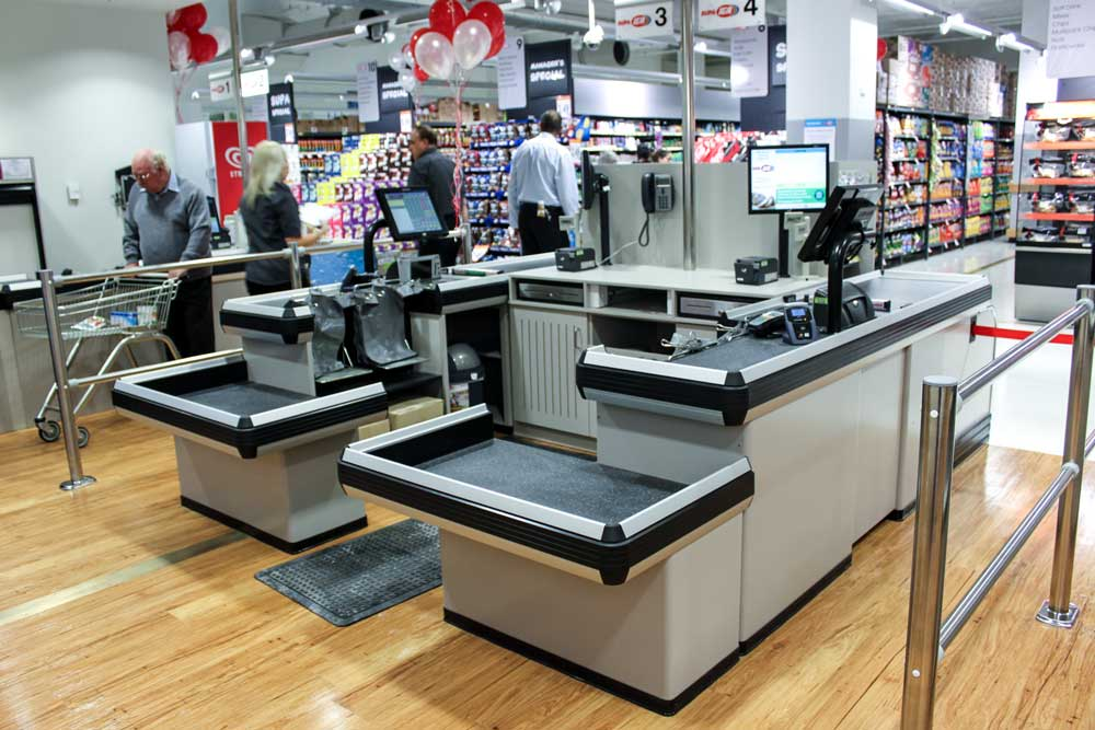 Lane Checkout Supermarket Rear-view-conveyor-scan-and-pack-with-dropdown
