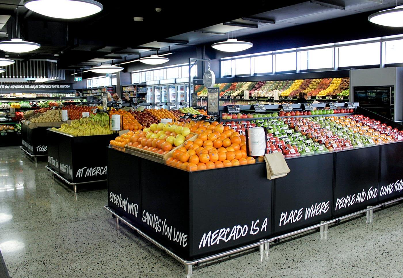 Profresh Produce Island Fruit and Veg display for supermarkets