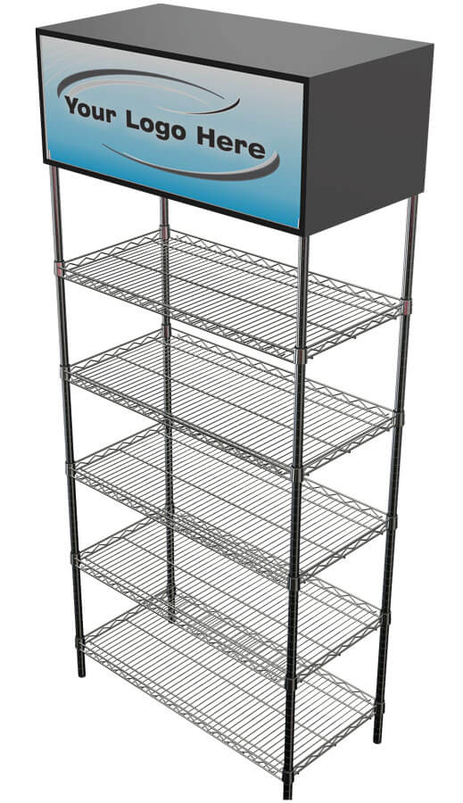 Euroshelf Dense End Shelving - no side stacks