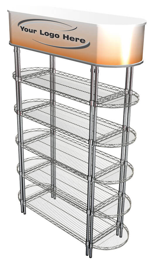 Euroshelf Dense End Shelving - radius side stacks